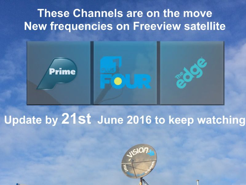 Freeview Satellite Frequency Change