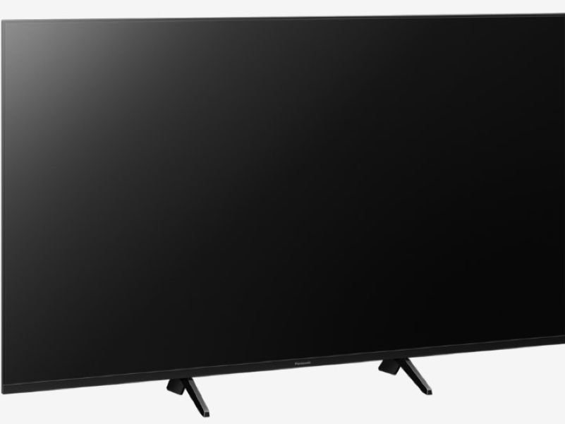Showing the black screen of a Panasonic Ultra HD TV